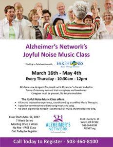 Joyful Noise Music Class @ Alzheimer's Network | Salem | Oregon | United States