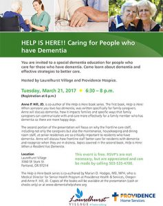 HELP IS HERE! Caring for People who have Dementia @ Laurelhurst Village | Portland | Oregon | United States