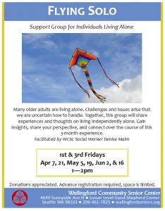 Flying Solo Support Group @ Wallingford Community Senior Center | Seattle | Washington | United States