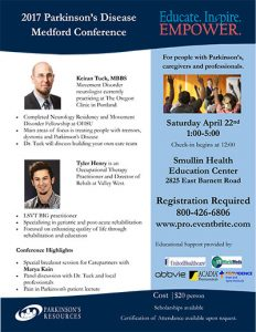 Educate.Inspire.Empower.Parkinson's Conference @ Smullen Health Education Center | Medford | Oregon | United States
