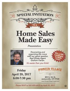 Home Sales Made Easy Presentation @ Pioneer Village | Jacksonville | Oregon | United States