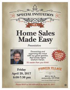 Home Sales Made Easy Presentation @ Pioneer Village | Jacksonville | Oregon | United States