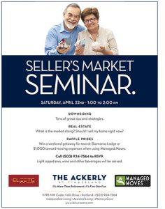 Seller's Market Seminar @ The Ackerly at Timberland   Portland   Oregon   United States