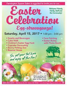 Easter Celebration Egg-stravaganza @ Farmington Square Salem | Salem | Oregon | United States