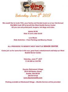 BBQ Rib Cook-off party @ Daystar Retirement Village   Seattle   Washington   United States