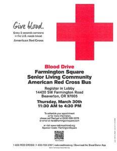 Blood Drive @ Farmington Square Beaverton | Beaverton | Oregon | United States