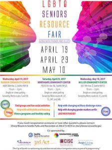 LGBTQ Seniors Resource Fair @ Rainier Community Center | Seattle | Washington | United States