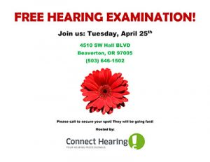 Free Hearing Evaluation! @ Connect Hearing | Beaverton | Oregon | United States