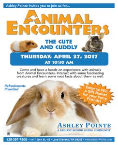 Animal Encounters: The Cute and Cuddly @ Ashley Pointe | Lake Stevens | Washington | United States