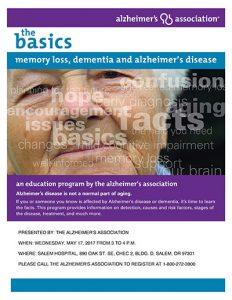 Dementia: The Basics @ Salem Hospital, Bldg. D, CHEC 2 | Salem | Oregon | United States
