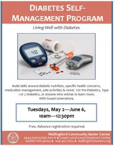 Diabetes Self Management Program @ Wallingford Community Senior Center | Seattle | Washington | United States