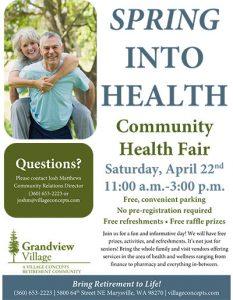 Spring Into Health Fair @ Grandview Village Retirement Community | Marysville | Washington | United States