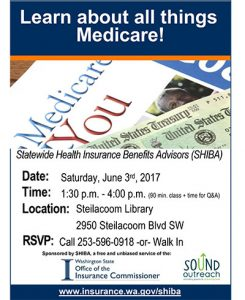 All Things Medicare @ Steilacoom Library | Steilacoom | Washington | United States
