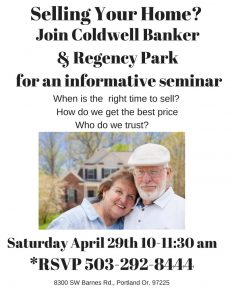 How to Sell Your Home for Seniors @ Regency Park Assisted Living & Memory Care | Portland | Oregon | United States