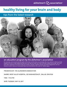 Healthy Living for Your Brain and Body: Tips from the Latest Research @ West Valley Hospital | Dallas | Oregon | United States