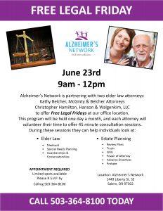 Free Legal Friday @ Alzheimer's Network | Salem | Oregon | United States