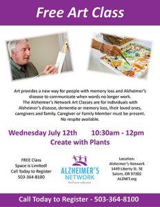 Art Class - Plant Project @ Alzheimer's Network | Salem | Oregon | United States