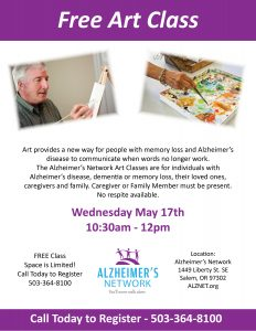 Alzheimer's Network Art Class @ Alzheimer's Network   Salem   Oregon   United States