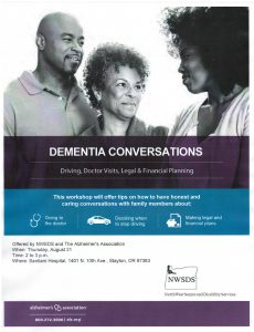 Dementia Conversations: Driving, Doctor Visits, Legal & Financial Planning @ Santiam Hospital Auditorium | Stayton | Oregon | United States