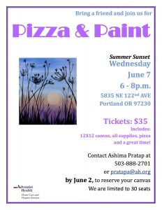 Pizza And Paint Night @ Adventist Home Care Services    Portland   Oregon   United States