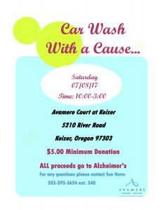 Car Wash With a Cause! @ Avamere Court at Keizer | Keizer | Oregon | United States