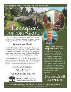 Caregiver Support Group @ Farmington Square Tualatin | Tualatin | Oregon | United States