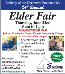 Bethany of the Northwest Foundation's 24th Annual Elder Fair @ Jackson Conference Center at Everett Community College | Everett | Washington | United States