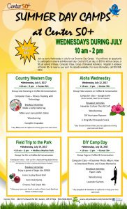 """SUMMER DAY CAMPS at Center 50+ """"Field Trip to the Park"""" @ Wallace Marine Park"""