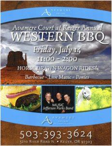 Western BBQ @ Avamere Court at Keizer Annual WESTERN BBQ   Keizer   Oregon   United States