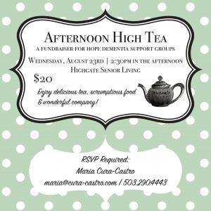 Afternoon High Tea at Highgate @ Highgate Senior Living | Vancouver | Washington | United States