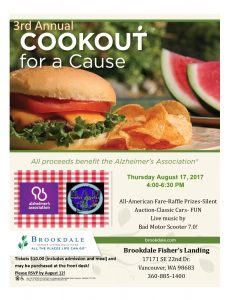 3rd Annual Cookout for a Cause @ Brookdale Fisher's Landing | Vancouver | Washington | United States