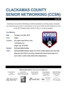 Clackamas County Senior Networking (CCSN) @ Milwaukie Center | Happy Valley | Oregon | United States