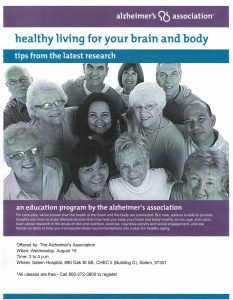 Healthy Living for Your Brain and Body: Tips From the Latest Research @ Salem Hospital - CHEC 2, Building D | Salem | Oregon | United States