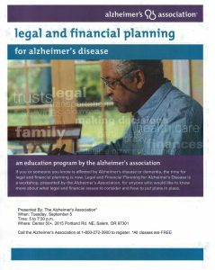 Legal and Financial Planning for Alzheimer's Disease @ Center 50+ | Salem | Oregon | United States