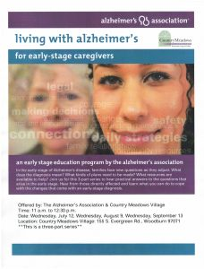 Living with Alzheimer's Disease, for Caregivers: Early Stage @ Country Meadows Village, Woodburn | Woodburn | Oregon | United States