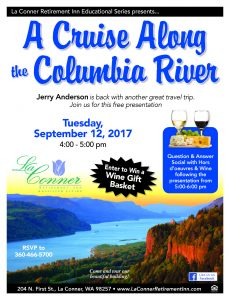 A Cruise Along the Columbia River Presentation @ La Conner Retirement Inn | La Conner | Washington | United States