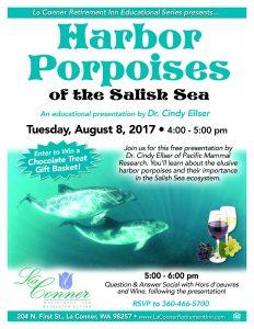 Harbor Porpoises of the Salish Sea: An Educational Presentation by Dr. Cindy Ellser @ La Conner Retirement Inn | La Conner | Washington | United States