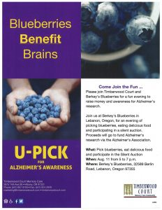 Blueberries Benefit Brains @ Berkey's  Blueberries | Lebanon | Oregon | United States
