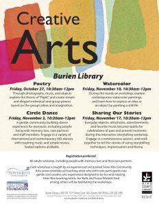 Creative Arts Programs at the Burien Library @ Burien Library  | Burien | Washington | United States