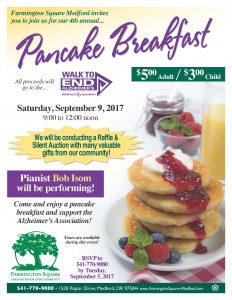 4th Annual Pancake Breakfast @ Farmington Square Medford   Medford   Oregon   United States