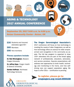 2017 OGA Aging and Technology Conference @ Keizer Civic Center | Keizer | Oregon | United States