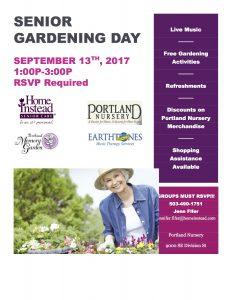 Senior Gardening Day at Portland Nursery @ Portland Nursery  | Portland | Oregon | United States