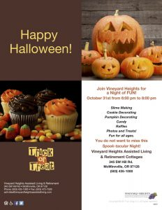 Halloween Event @ Vineyard Heights Retirement & Assisted Living | McMinnville | Oregon | United States