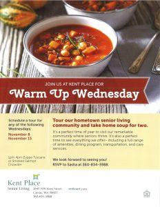 Warm Up Wednesday @ Kent Place | Camas | Washington | United States