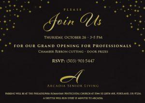 Arcadia Senior Living for Professionals @ Arcadia Senior Living  | Portland | Oregon | United States