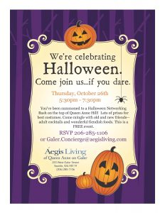 We're Celebrating Halloween---Professional Networking Event @ Aegis of Queen Anne on Galer  | Seattle | Washington | United States