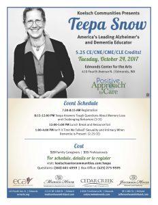 Teepa Snow Live in Edmonds @ Edmonds Center for the Arts | Edmonds | Washington | United States