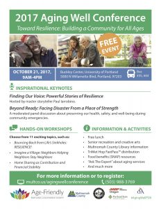 2017 Aging Well Conference @ Buckley Center, University of Portland | Portland | Oregon | United States