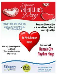 Valentines Day Dance @ Luepke Center Community Room | Vancouver | Washington | United States