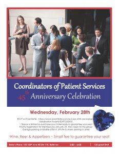 Coordinators of Patient Services (COPS) 45th Anniversary Celebration @ Bake's Place | Bellevue | Washington | United States
